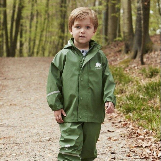 Set jacheta+pantaloni ploaie si windstopper - CeLaVi - Jungle Green