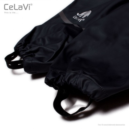 Salopeta Black de ploaie pentru copii mari, impermeabila - CeLaVi - Black