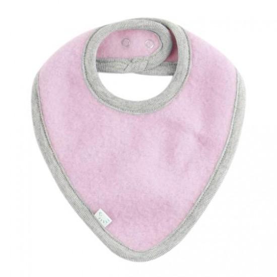 Bandana groasa din lana merinos organică fleece reglabila cu capse - Iobio - Cotton Candy