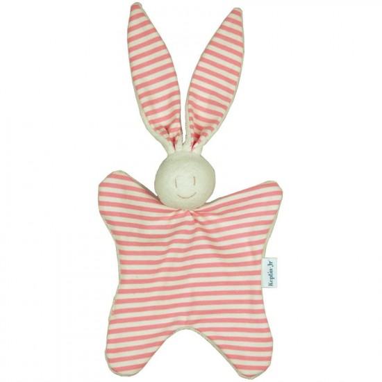 Jucarie textila din bumbac organic - Keptin Jr - Rabbit Pink