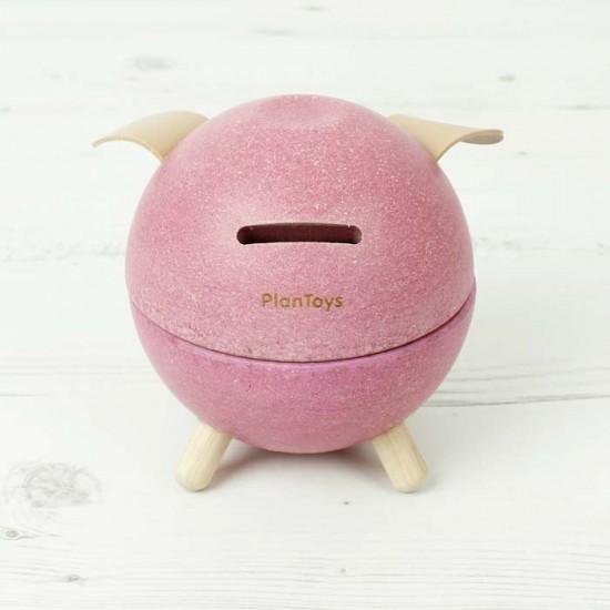 Pink Piggy Pusculita din lemn Plan Toys