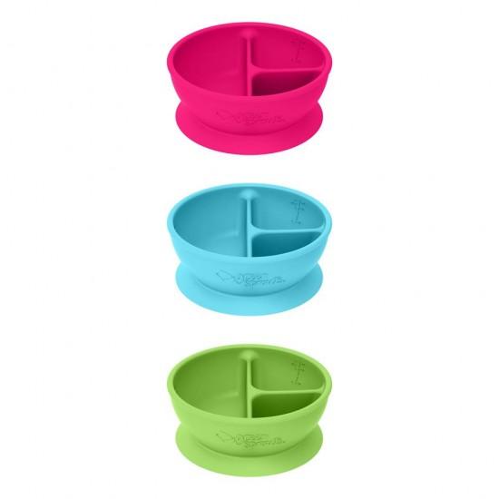 Bol de învatare compartimentat - Learning Bowl Divided - Green Sprouts -Aqua